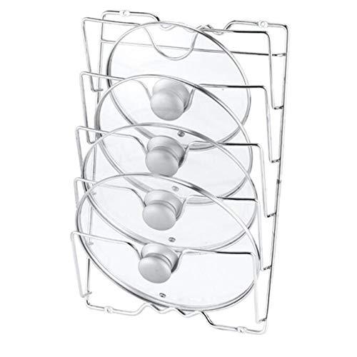 Zoomne - Organizador de puerta para armario de 5 niveles, resistente y antioxidante, para tapas de olla y cacerola