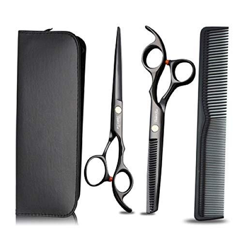 Juego de tijeras profesionales para cortar el pelo, tijeras de corte de pelo, tijeras para adelgazar, peine de maquinilla de afeitar, clips, kit de tijeras para el hogar, salón, peluquería