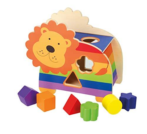 Orange Tree Toys 46029 OTT13014 Jeu de Formes Lion Multicolore
