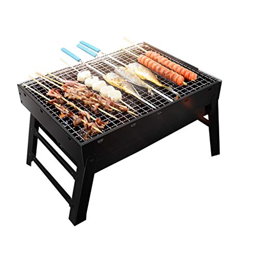 LZL Griglia per Barbecue Folding Barbecue Barbecue Portatile charcole Griglia Pieghevole del Carbone di Legna di Campeggio Barbecue Il Forno del BBQ Griglia for Barbecue Griglie a Carbone