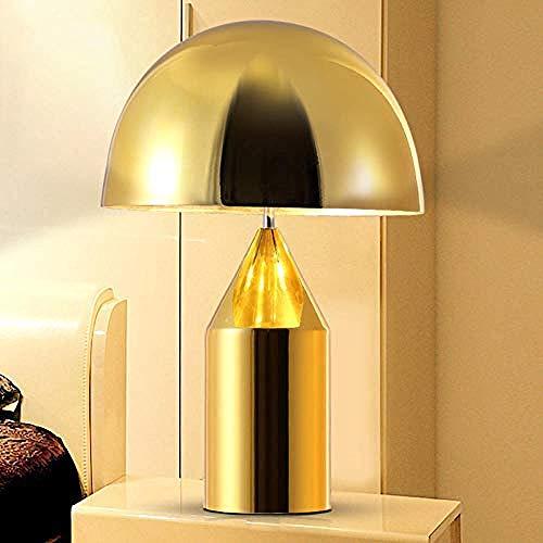 Nachtlampje, binnenverlichting, bureaulamp, tafellamp, om neer te zetten, diameter 37 cm, hoogte 50 cm, lamp, E14, rode koperen kop