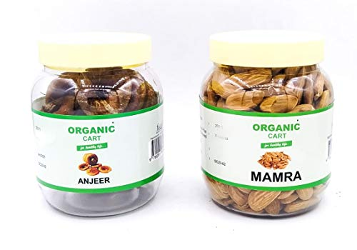 Organic Cart Natural Dry Fruits Gift Box Combo from Amazon Pantry Anjeer 250 G Almond 250 G - 500 Grams