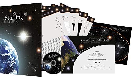 Registro de stelle Starling© - Regalare una stella - Comprare una stella - Dare il nome ad una stella (Starlight)