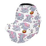 Couverture d'allaitement, écharpe d'allaitement, couvertures de siège de voiture pour bébés, bébés, enfants, poussettes, canopée de siège auto pour garçons et filles