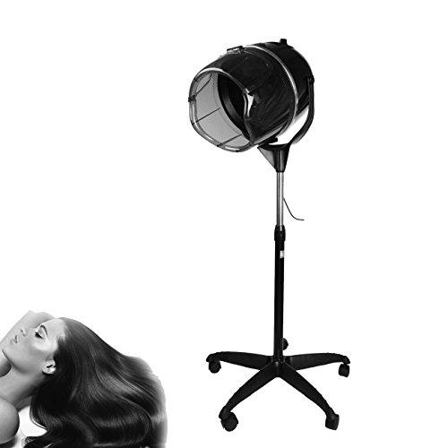 Ridgeyard Casco Asciugacapelli parrucchieri con piedi Professionale CE Certificazione 900W Altezza regolabile con Base rotolata