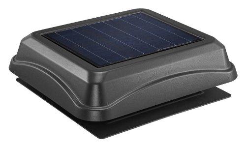 Broan-NuTone 345SOBK Surface Mount Solar-Powered Attic Ventilator, Energy-Saving Ventilator, Weathered Wood, 28-Watts, 537 CFM
