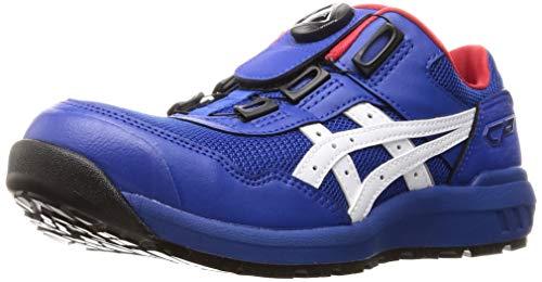 [アシックス] ワーキング 安全靴/作業靴 ウィンジョブ CP209 BOA JSAA A種先芯 耐滑ソール fuzeGEL搭載 ブルー/ホワイト 25.0