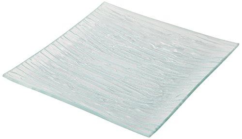 Delys-by-Vercal 508.429 Quadrata con Vetro scanalato Dolce Piatto 19,5 x 19,5 Centimetri