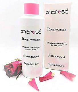 Original Anerose Rosenwasser, 1x250ml ist 100% Natürlich und Vegan! Antibakteriell, Gesichtswasser ohne Alkohol aus Damascena Rose Hydrosol.