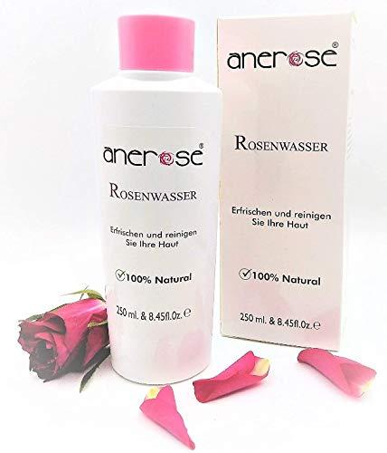 Original Anerose agua de rosas, antibacteriano, 100% natural y vegetariana tóner, natural, sin alcohol, tónico, Rosa damascena Hydrosol. ¡Por un precio introductorio, solo por un corto tiempo!
