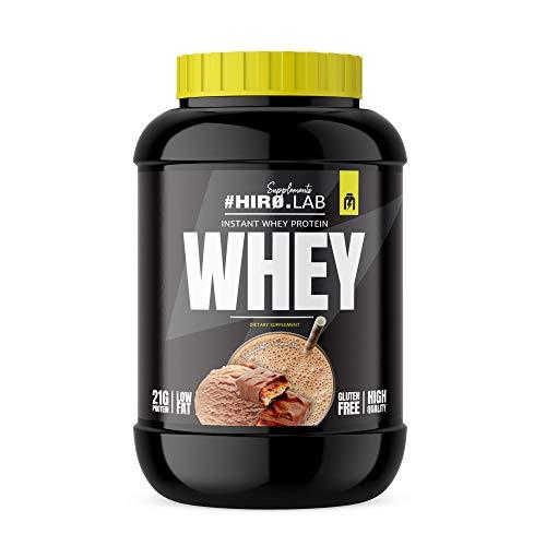 Hiro.Lab Instant Whey Protein 2000g - Concentrato di proteine del siero di latte in polvere – Shake per aumentare la massa muscolare - Senza Gluten - Low Fat (Banana)