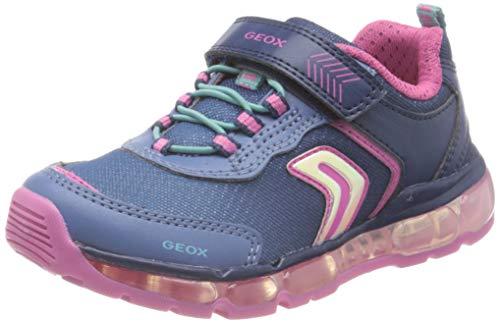 Geox Mädchen J Android Girl A Sneaker, Blau (Navy C4002), 31 EU