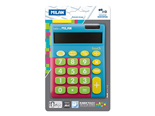 Milan 159906TMBBL - Calculadora, 10 dígitos, multicolor