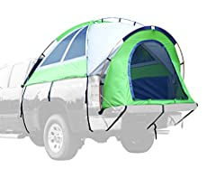 Napier offers the only truck tents on the market with a full floor, keeping you clean from your truck and dry from the elements Designed to fit most pick-up trucks (see sizing chart), even trucks equipped with a toolbox or bedliner Full rainfly provi...