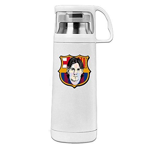 j3g9, acero inoxidable, aislado al vacío taza de viaje fútbol Barcelona Messi aislado al vacío taza color blanco 14oz/350ml