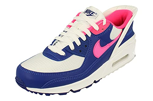 Nike Air Max 90 Flyease Mens Running Trainers CU0814 Sneakers Shoes (UK 10.5 US 11.5 EU 45.5, White Hyper Pink White 101)