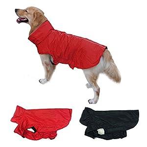 unho Vêtements Veste Manteau pour chien imperméable extérieur d'hiver chaude en polaire rembourrée poitrine Protection d'écran, passepoil réfléchissant pour la sécurité nocturne toutes les tailles de XS à XXL
