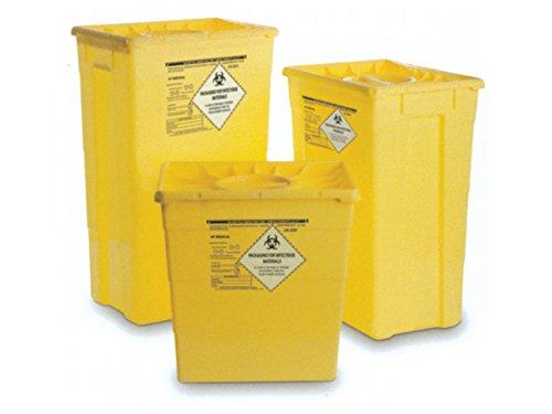 GIMA - Recipiente de residuos con doble tapa, 50 L, caja fuerte y agujas, recipiente desechable