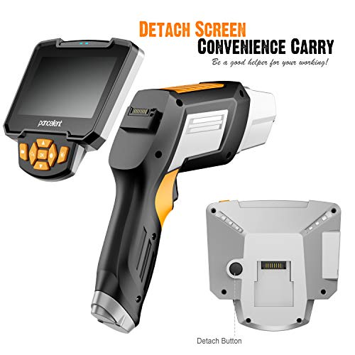 Pancellent Borescope Industriel numérique 1920X1080P, vidéoscope à Endoscope avec caméra d'inspection étanche IP67, écran LCD Couleur de 4,3 Pouces, Carte mémoire 32G, 10 Pieds (3 mètres)