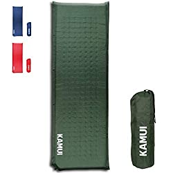 DESIGNED FOR TENT AND FAMILY CAMPING: The weight-to-thickness ratio (1.6 kg-5 cm) makes this sleeping pad suitable for car and family camping. This sleeping pad is comfortable enough to make you sleep longer in your sleeping bag. THICK AND COMFORT: 5...