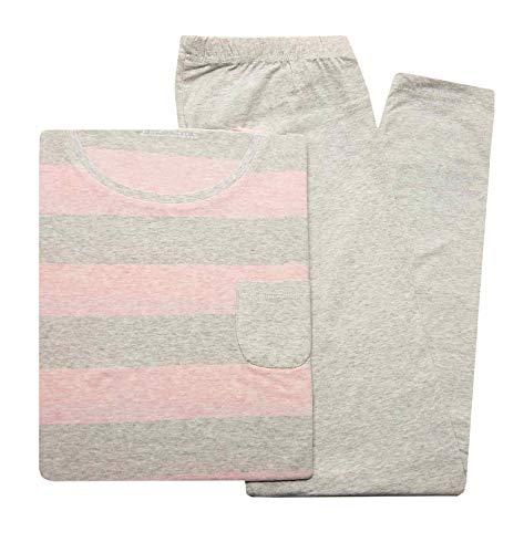TCM Tchibo Damen Schlafanzug aus Bio-Baumwolle L 44 46