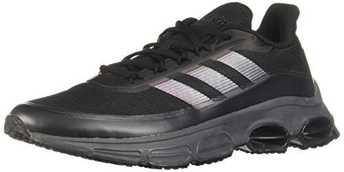 adidas Herren Quadcube Laufschuhe, Schwarz (Core Black/Core Black/Signal Coral), 42 2/3 EU