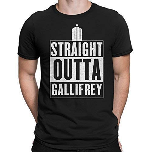 Doctor Who Straight Outta Gallifrey T-Shirt Tardis TV Graphic Nerdy tee Geek me That Camisetas y Tops(XX-Large)