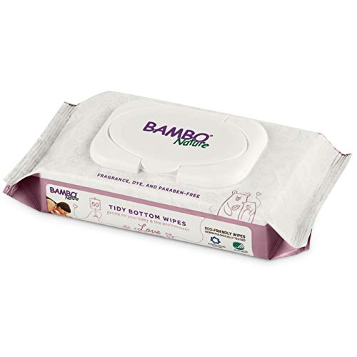 Price comparison product image Bambo Nature Tidy Bottoms Baby Wipes,  50 Count (Pack of 24)