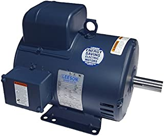 5 hp 1725 RPM 184T Frame 208-230 Volts Open Drip Leeson Electric Motor # 131622