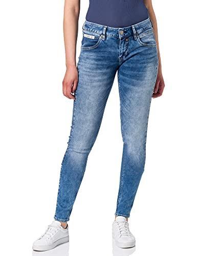 Herrlicher Damen Touch Slim Reused Denim Jeans, Retro Blue 004, W29/L30