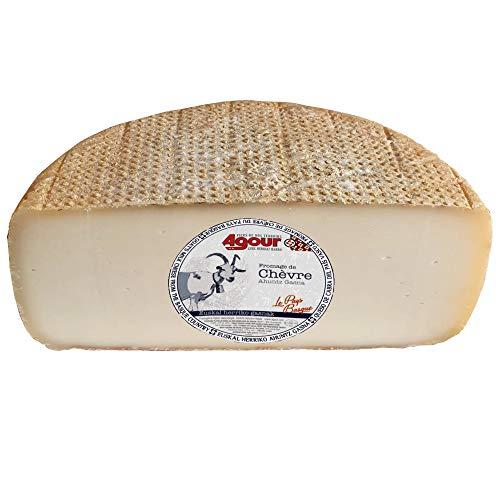 Queso de Cabra del País Vasco Frances - Medio Queso de Cabra - Peso Aproximado 1600 gramos - Elaborado por AGOUR, uno de los productores más laureados de todo el mundo en el World Cheese Awards