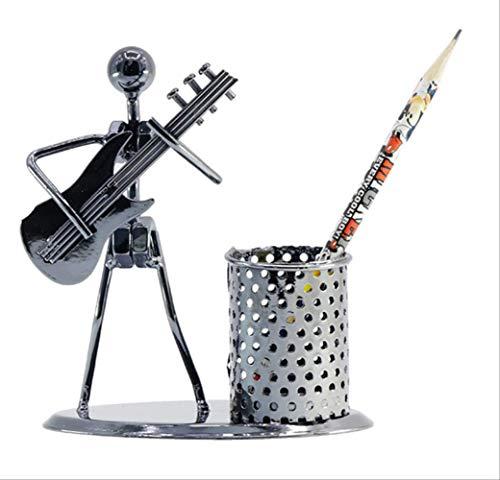 Pen Houder, Student Gift Pen Houder, Spelend Gitaar Iron Man Model Pen Houder