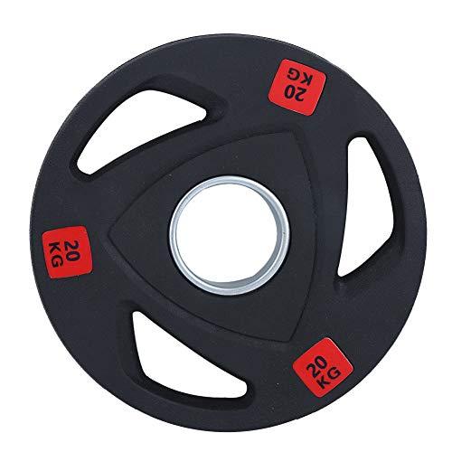 Keenso Langhantel Gewichtheben Stück, Gewichtheben Langhantel Slice Disk Gym DREI Löcher Hand Langhantel Slice Inland Gewichtheben Fitnessgeräte(20kg)