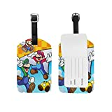 Etiquetas de Equipaje Super Smash Bros Mario y Luigi 's Paper Jam Correa Ajustable Etiqueta de Cuero de Equipaje para Maletas Equipaje