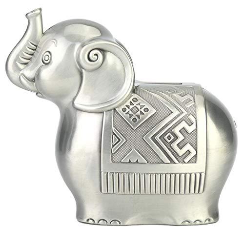 Oumefar Cajas de Dinero Material de aleación Linda Forma de Elefante Banco de Monedas Caja de Ahorro de Dinero Hucha Adornos para Regalo de Chico