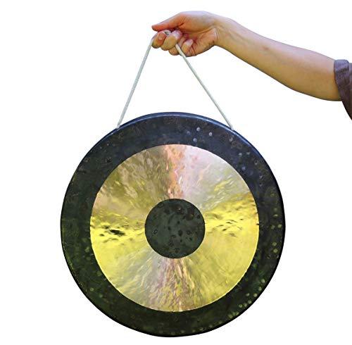 Original Tam Tam Gong/Whood Chau Gong 40 cm, toller Klang, inklusiv Holz-/Baumwollklöppel -7026-