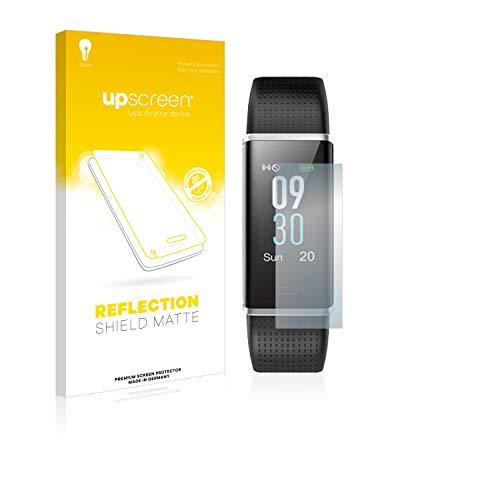upscreen Entspiegelungs-Schutzfolie kompatibel mit Yamay Fitness Tracker SW352 – Anti-Reflex Displayschutz-Folie Matt