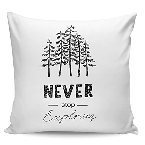 Winter Rangers Fundas de almohada decorativas, nunca detengas de almohada ultra suave, cómoda funda de cojín cuadrada para sofá dormitorio, 50,8 x 50,8 cm