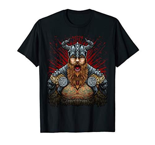 Schlachtruf der Wikinger - Mächtiger nordischer Krieger T-Shirt