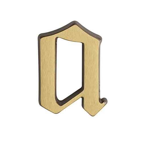 Metafranc Hausnummer a - Messing - 55 mm  - 3D Design - Gute Lesbarkeit - Individuelle Kombinationsmöglichkeiten / Beschriftung / Kennzeichnung / Buchstabe / Haustür / Hauswand / Gartentor / 422017