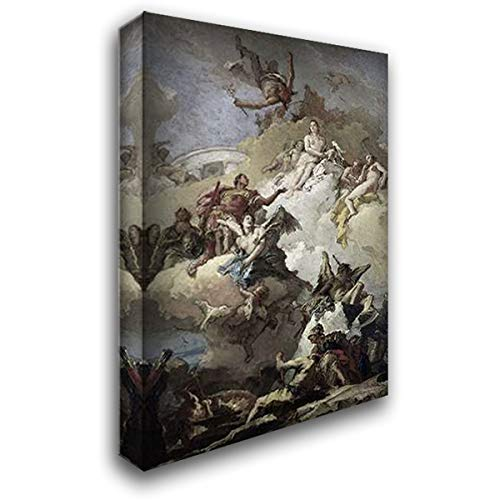 Tiepolo, Giovanni Battista 16x24 Gallery Wrapped Stretched Canvas Art Titled: Apotheosis of Aeneas