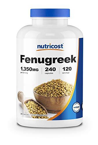 Nutricost Fenugreek Seed 1350mg, 240 Capsules - Gluten Free, Non-GMO, 675mg Per Capsule