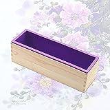 Verdelife Seifensilikonform, rechteckige kalte Seifenform mit Holzkiste, zur Herstellung von...