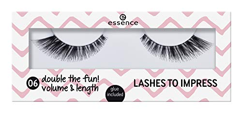 Essence Lashes to impress Nr. 06 double the fun! volume & length Inhalt: 1 Paar künstliche Wimpern und Kleber 1ml - Wimpern