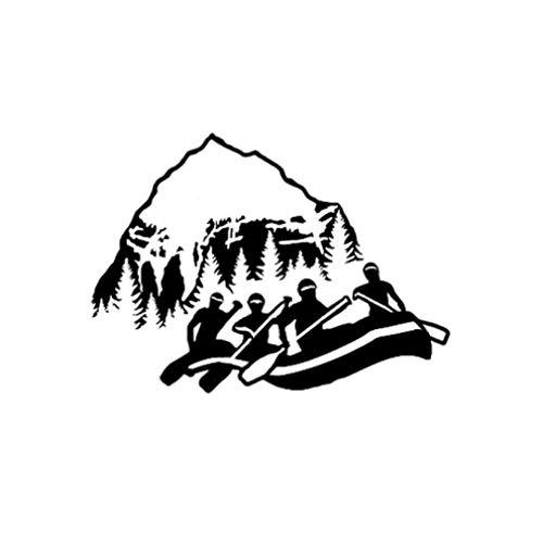 Gbrand 3 Piezas Etiqueta engomada del coche15,8 * 11,5 CM Vista de Las montañas Rafting Deporte gráfico Etiqueta engomada del Coche Negro