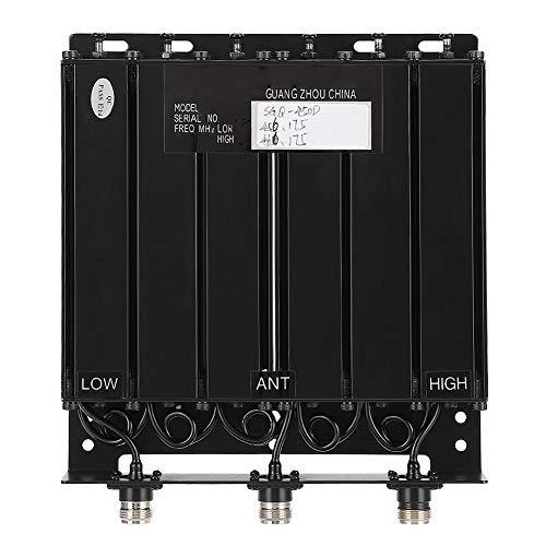 Professionele UHF50W 6-cavity duplexer met verschillende blokkeerfilters voor radio-repeaters (TX: 456.175 RX: 466.175), gemakkelijk te transporteren en te installeren, N-plug, draagbare duplexer