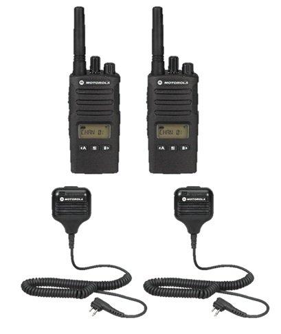 2 Pack Motorola RMU2080D Radios with Speaker Mics