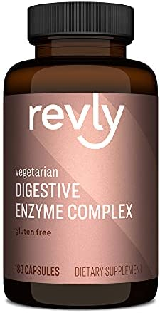 Amazon Brand - Revly Digestive Enzyme Complex, Supports Healthy Digestion, 180 Count Capsules, 90 Servings, Satisfaction Guaranteed