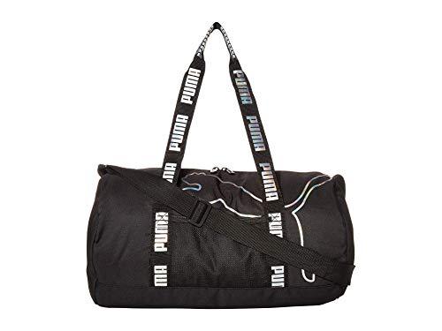 PUMA unisex adult Barrel Duffel Bag, Black, One Size US