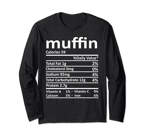 Nutricin Muffin Funny Accin de Gracias Comida Navidad Manga Larga